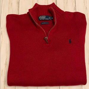 Polo Ralph Lauren 🐎 1/4 Zip Sweater. Size Medium.
